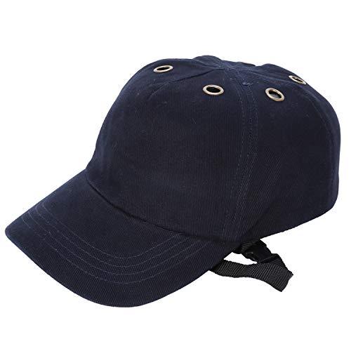 Muffly Anstoßkappe Sicherheitsmütze Baseball-Stil Sicherheitskappe Schutzkappe Anti-Schock Arbeitskappe,Kopfschutz Schutzkappe Stoßschutzkappe,Marineblau(4*air Hole)
