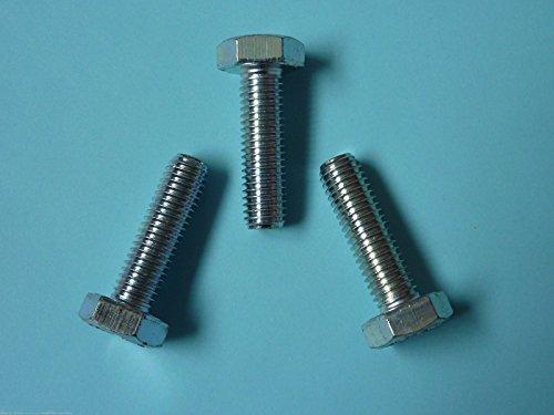 5 Stk DIN 961 Sechskantschraube M8x1x20 Feingewinde annähernd bis Kopf - Stahl verzinkt