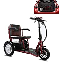XCBY Scooter EléCtrico De 3 Ruedas Personas con Movilidad Reducida/Adultos/MinusváLidos/Discapacitados 350w 20 Km/H 30KM