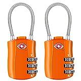 [2 Pack] Serrures à bagages TSA, Diyife cadenas de sécurité à 3 chiffres, cadenas...
