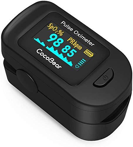 Blutsauerstoffsättigungsmonitor, Herzfrequenz-Pulsoximeter, Fingeroximeter, Sofortmessung, klein und leicht zu tragen, mit LED-Anzeige, klarem Bildschirm