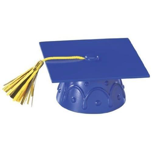 Cake Candle Set  Hats Caps Blue Green Red /& Sign 5-7D Congrats Grad