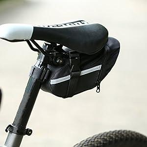 UniqueHeart Bicicleta Impermeable al Aire Libre Bicicleta de montaña Asiento Trasero Bolsa de Nylon Bolsa de sillín Ciclismo Bolso de la Bici para Bicicletas Bolsa de Paquete Trasero