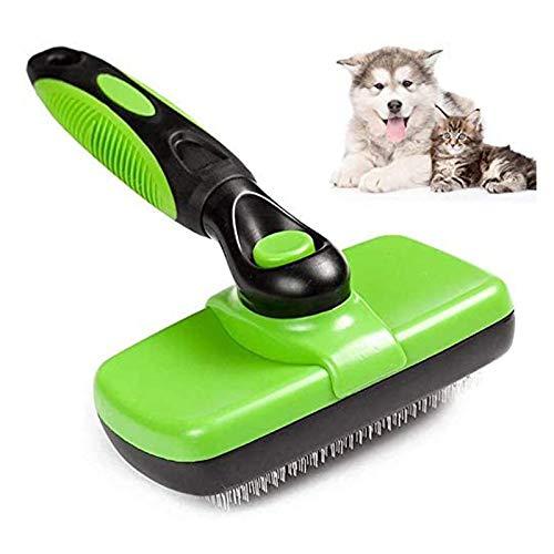 CHENMAO Limpieza automática Peine de uñas Pincel de limpieza de autoservicio para perros y gatos Groomer Shedding Herramientas de aseo Pegbs Rakes, elimina suavemente las alfombras de deshecho enredad