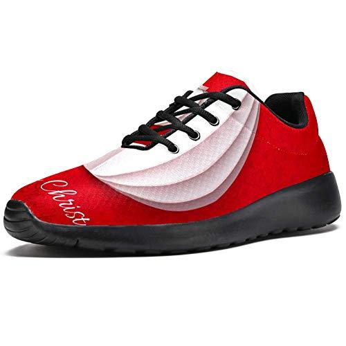 TIZORAX Laufschuhe für Damen, weiße Laterne, Origami-Papier auf rotem Netzstoff, atmungsaktiv, zum Wandern, Tennisschuhe, Mehrfarbig - mehrfarbig - Größe: 40.5 EU
