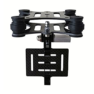 GoolRC Gimbal FPV Camera Mounts with Anti Vibration Plate for DJI Phantom Walkera Qr X350 Gopro Hero 3 3+ 4 CF Carbon Fiber by GoolRC