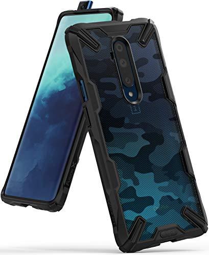 Ringke Fusion-X DDP fürs OnePlus 7T Pro Hülle, Militär Muster Rückseite mit Verbesserter TPU Silikon Bumper Schutz - Camo Black