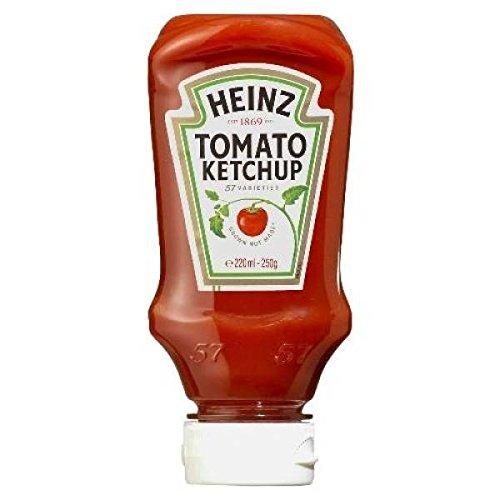 Heinz Tomato Ketchup 250g dall'alto verso il basso - ( Prezzo unitario ) - Heinz tomato ketchup 250g top down