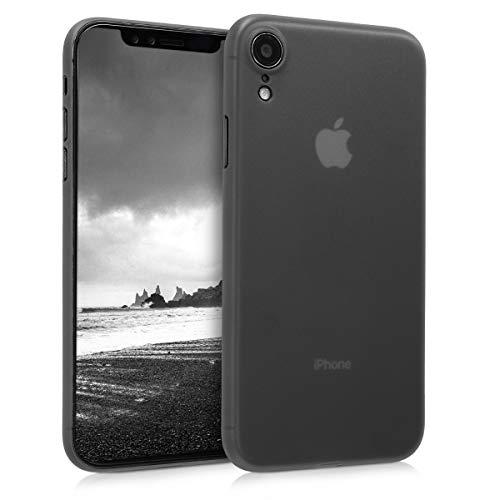 kwmobile Funda Compatible con Apple iPhone XR - Carcasa para móvil - Cover Protector Trasero Negro