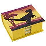 Mr. Ellie Pooh Handmade Yellow Tyranosaurus Rex Poo Paper Note Box and Recycled Note Paper