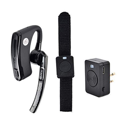 HYS Two Way Radio 2 Pin(Male) Walkie Talkie Earpiece Bluetooth Headset with PTT MIC for RMM2050 GP300 CP200 PR400 CLS1110 Handheld Transceiver