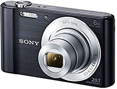Sony DSC-W810 - Fotocamera Digitale Compatta con Sensore Super HAD CCD da 20.1 MP, Zoom Ottico 6x, Video HD, Nero