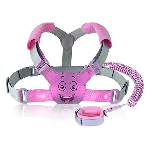 Leyeet Toddler Anti Lost Safety Wrist Link Kids Reflexivo Anti-Lost Arn/és para Caminar Arn/és para beb/é Correa de Seguridad Color : Azul