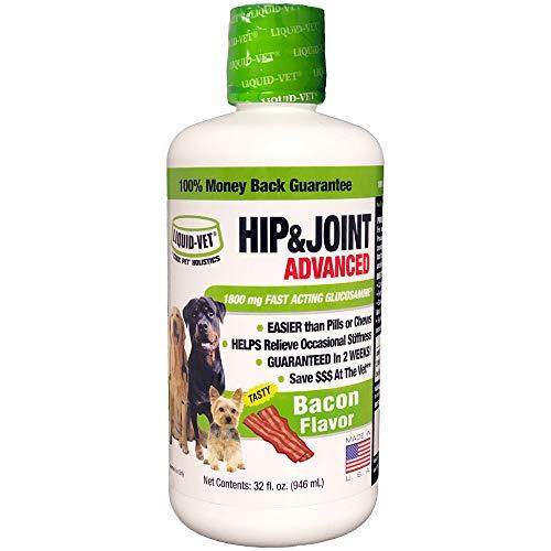 Liquid-Vet by COOL PET Holistics K9 Hip & Joint Advanced Formula, Bacon Flavor, 32 oz