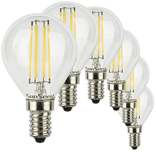 SunSeed® 6x Glühfaden LED Golfball-Lampe E14 6W ersetzt 60W Neutralweiß 4000K