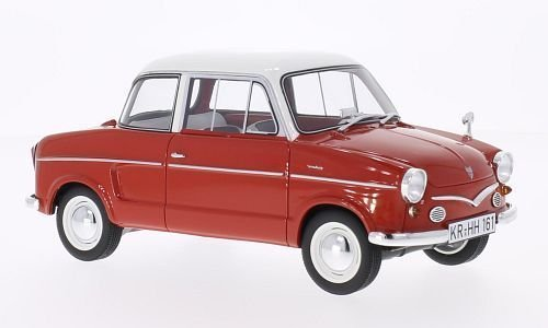 NSU Prinz III, rot/weiss, 1960, Modellauto, Fertigmodell, BoS-Models 1:18
