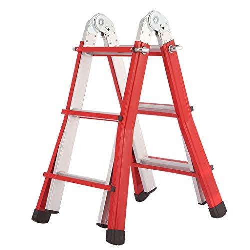 AA-SS-Ladder Escalera Multiusos de Fibra de Vidrio con clasificación de Trabajo Pesado de 150 kg, Escalera de extensión