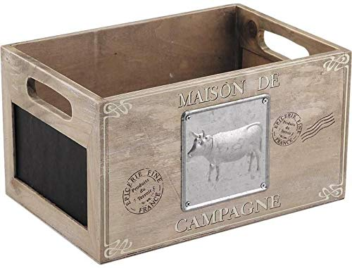 Almacenamiento Caja De Madera Corral Pizarra Chic Vintage Estilo Rustico