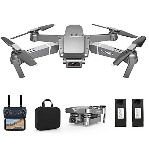 Drone con cámara 4K HD mando a distancia WiFi APP Quadricóptero, tiempo de vuelo, 30 minutos, 2 pilas modo sin cabeza con control Gestuel Vol de tracción, dron plegable, RC para principiantes