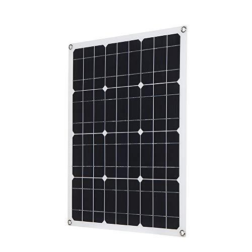 Galapara Módulo de Panel Solar monocristalino de enjoysolar, DC5V / DC18V 40W Salida Dual El Panel de Carga Solar del Cargador del Coche de la Interfaz USB, Ideal para el jardín o la Caravana