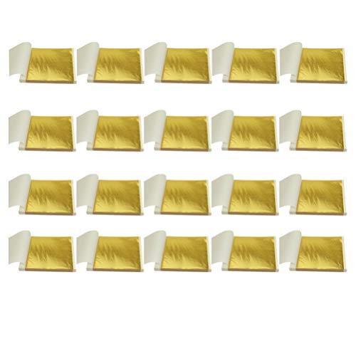 UPKOCH 100 PZ Carta Stagnola Foglia Oro per Unghie Capelli Fai da Te Confezione o Decorazione
