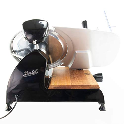Palatina Werkstatt ® Berkel Red Line 300 | Profi-Aufschnittmaschine/Allesschneider | Messerdurchmesser 300 mm | schwarz | mit integriertem Schleifapparat | + Fassholzbrett | VK: 1648,- €