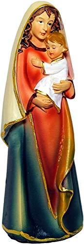 Kaltner Präsente Geschenkidee - Deko Figur Mutter Gottes Maria Madonna mit Jesus Kind modern Höhe (12 cm)
