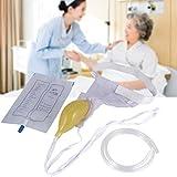 Bolsa de orina unisex para incontinencia, 1000ml, reutilizable, con cintura elástica, impermeable