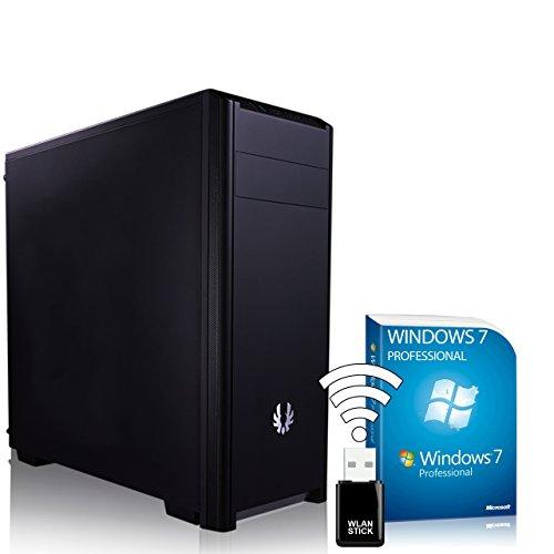 AGANDO Silent Allround & Business PC - Ordenador de sobremesa (AMD A4-5300, 2 x 3,4 GHz, GeForce GT730, 4 GB, 8 GB de RAM, 120 GB SSD, 1000 GB de disco duro, DVD-RW, USB 3.0, WLAN, Win 7 Pro)