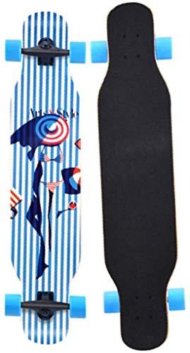 LFLLFLLFL Skateboard Monopatin Niños 7 Capas monopatín 42 Pulgadas Trucos completos Skate Board Brush Street Cruiser para Adolescentes Principiantes Niñas Niños Niños Adolescentes Adultos (Color : 1)