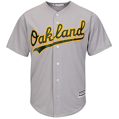 Majestic Athletic Oakland Athletics Cool Base MLB Replica Jersey Grey Baseball Trikot Tee T-Shirt