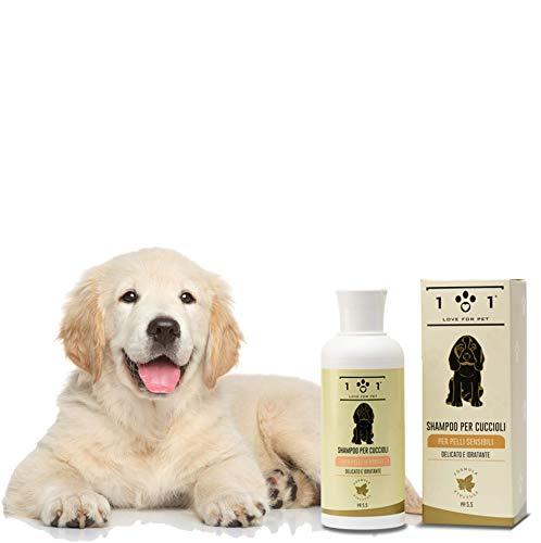 Shampoo Naturale per Cuccioli e Pelli Sensibili e Delicate, 250ml - con Ingredienti Vegetali ed Estratti di Camomilla - Adatto per Tutti i Tipi di Pelo, Linea 101