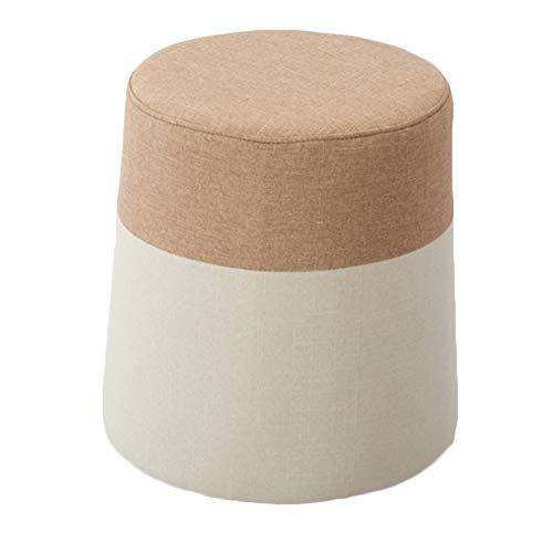 LIXIONG Tabouret Pouf Accueil Rond Tabouret Design De Couleur Assortie Facile À Nettoyer, 11 Couleurs 38x38x40cm (Couleur : H)