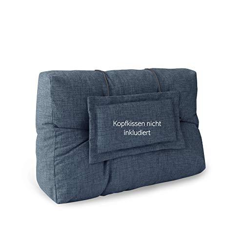 LILENO HOME Palettenkissen Set Jeans - Rücken- / Seitenkissen 60x40x10/20 cm - Polster für Europaletten - Palettenkissen Outdoor als Sitzkissen für Palettenmöbel