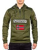 Geographical Norway Sudadera con Capucha para Hombre (Caqui, XL)