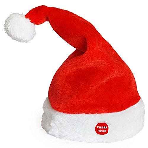 lux.pro Rockende Weihnachtsmütze Musik Tanzend Singend Weihnachten Nikolaus Mütze