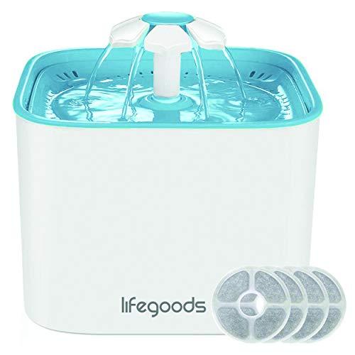 Drinkfontein voor Kat en Hond - incl. 2 Filters - Gefilterd Vers Water - 2 Liter Waterreservoir - Katten fontein - Wit/Blauw
