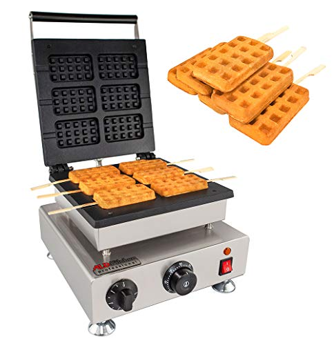 Read About ALDKitchen Swing type BELIGIUM Waffle maker Nonstick Electric Egg Biscuit Roll Maker Mach...