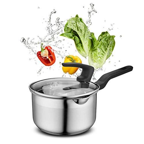 Pot à lait Pot à pot Extra épais de haute qualité en acier inoxydable Pot à pot vertical Diamètre 16CM