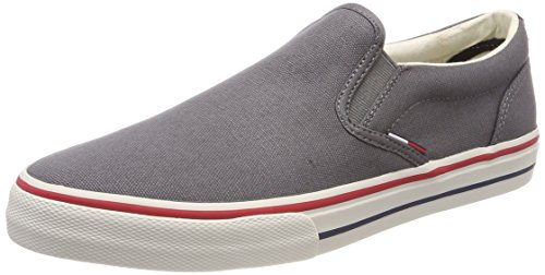 Hilfiger Denim Herren Tommy Jeans Textile Slip ON Sneaker, Grau (Steel Grey 039), 41 EU