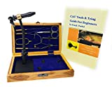 Colorado Anglers Z797 Wooden Fly Tying Standard Tool Kit, Fly Fishing Vise, Bobbin, Threader, Bodkin, Dubbing Twister, Hackle Pliers, Scissors, Whip Finisher