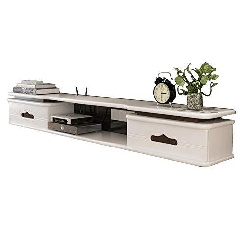 Brooke shop Mueble de TV flotante, para caja de TV vía satélite con DVD, decodificador de cable, consola de entretenimiento multimedia, mueble de TV flotante/A / 120×24×20cm