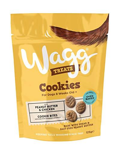 Wagg - Galletitas para perros (7 x 125g) (Tamaño Único) (Mantequilla de Cacahuete y Pollo)