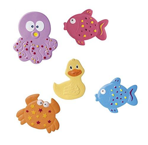 Canpol Lot de 5 tapis antidérapants pour baignoire Motif animaux