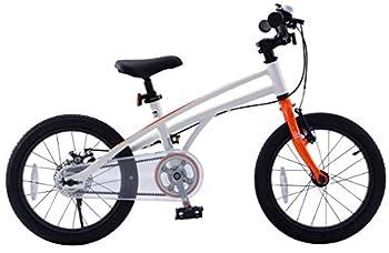 RoyalBaby H2 Kids Bike 14-16-18 inch Wheels Gift for Boys and Girls  White/Orange 16