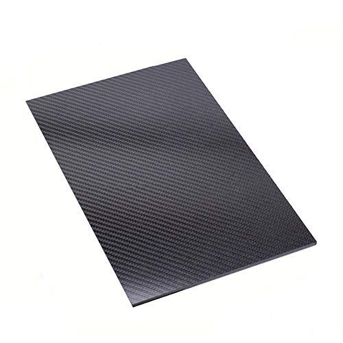 SOFIALXC Carbon Fiber Board 100% 3K Carbon Platte Laminat für DIY CNC gefräste Teile RC (Twill, matt Finish), 100mmx300mmx1mm