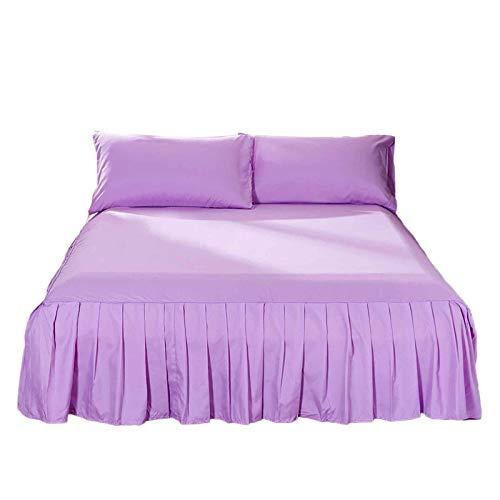 Torey Falda de cama suave de microfibra, hipoalergénica, fácil de llevar, monocolor