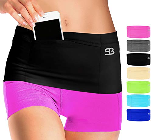 Stashbandz Sports Running Belt Waist Pack, Travel Money Bag Fanny Pack Workout, 3 Large Security...