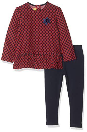 Chicco Completo T-Shirt Maniche Lunghe con Leggings Completino, Blu (Blu Rigato 080), (Taglia Produttore:104) Bambina