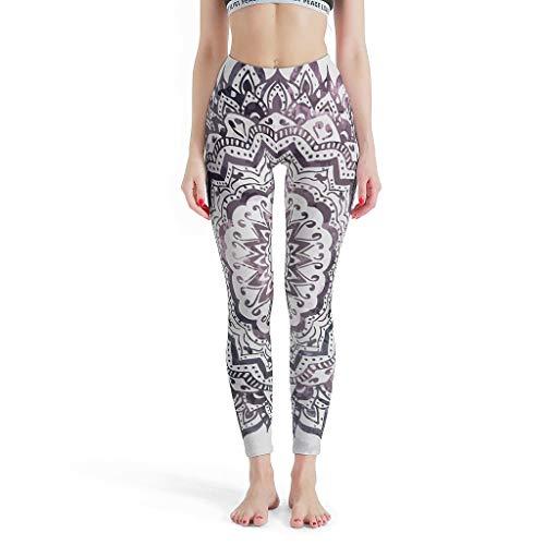 BTJC88 -Romantische Dunne Leggings Vrouwen, Leuke Leggings Jewel Mandala Patroon Print Zomer Capri Panty Aangepaste Leggings voor Vrouwen